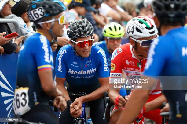 Start / Oscar Miguel Sevilla Rivera of Spain and Team Medellin / during the 3rd Tour of Colombia 2020, Stage 5 a 180,5km stage from Paipa to...