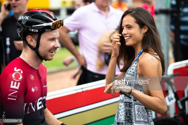 Start / Owain Doull of Great Britain and Team INEOS / Fans / Public / McLaren Vale / during the 22nd Santos Tour Down Under 2020, Stage 6 a 151,5km...