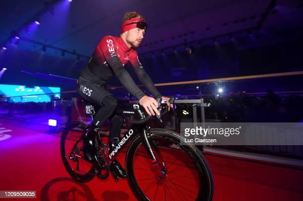 Start / Owain Doull of United Kingdom and Team INEOS / Kuipke Velodrome / Team Presentation / during the 75th Omloop Het Nieuwsblad 2020 Men Race a...
