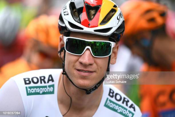 Start / Pascal Ackermann of Germany and Team Bora Hansgrohe / during the 23rd Euroeyes Cyclassics 2018 a 217,6km race from Hamburg to Hamburg on...