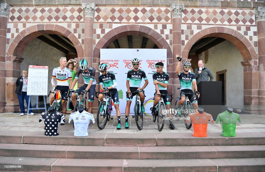 Start / Pascal Ackermann of Germany and Team Bora Hansgrohe / Peter ...