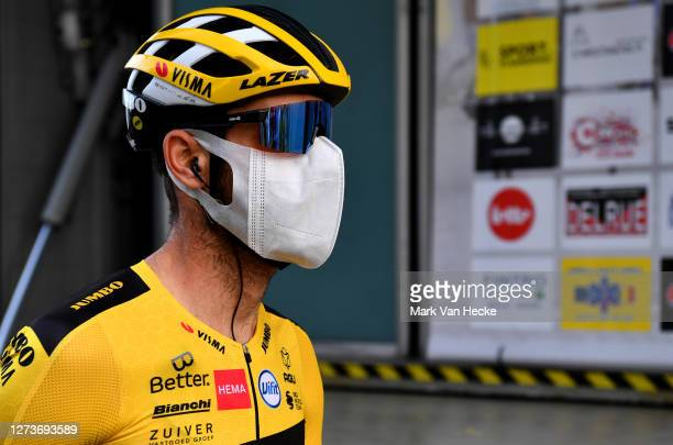 Start / Paul Martens of Germany and Team Jumbo - Visma / Covid safety measures / during the 17th Gooikse Pijl 2020 a 200,7km stage from Gooik to...