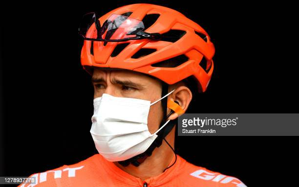 Start / Pavel Kochetkov of Russia and CCC Team / Mask / Covid safety measures / Team Presentation / during the 103rd Giro d'Italia 2020, Stage 5 a...