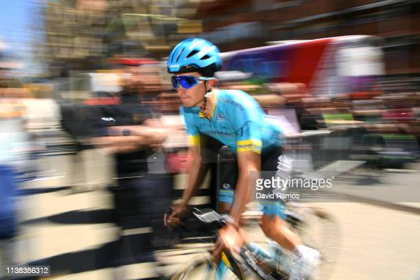 Start / Pello Bilbao of Spain and Astana Pro Team / during the 99th Volta Ciclista a Catalunya 2019 Stage 2 a 1667km stage from Mataró to Sant Feliu...