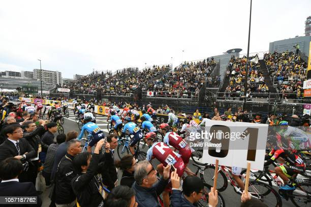 Start / Peloton / Fans / Public / during the 6th Tour de France Saitama Criterium 2018 a 589km race from Saitama to Saitama / TDF / on November 4...