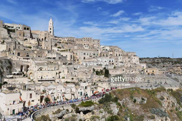 Start / Peloton / Matera City / Landscape / during the 103rd Giro d'Italia 2020, Stage Seven a 143km stage from Matera to Brindisi / @girodiitalia /...