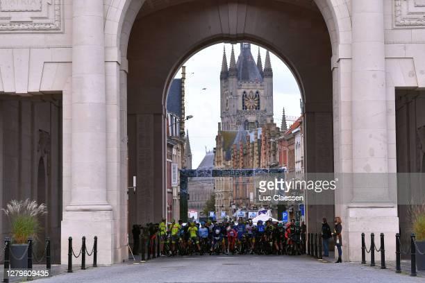 Start / Peloton / Menin Gate / Flanders Fields Museum / Ypres City / Landscape / during the 82nd Gent-Wevelgem In Flanders Fields 2020, Men Elite a...