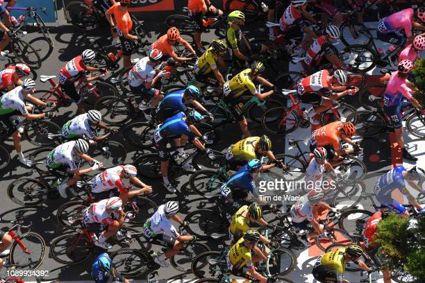 Start / Peloton / Owain Doull of Great Britain and Team Sky / Ryan Mullen of Ireland and Team TrekSegafredo / Ryan Gibbons of South Africa and Team...