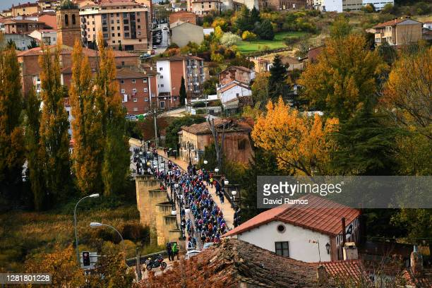 Start / Peloton / Soria City / Autumn / Landscape / during the 75th Tour of Spain 2020, Stage 4 a 191,7km stage from Garray - Numancia to Ejea de los...