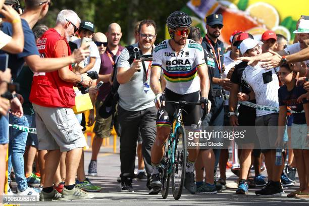 Start / Peter Sagan of Slovakia and Team Bora - Hansgrohe / Fans / Public / during the 73rd Tour of Spain 2018, Stage 9 a 200,8km stage from Talavera...