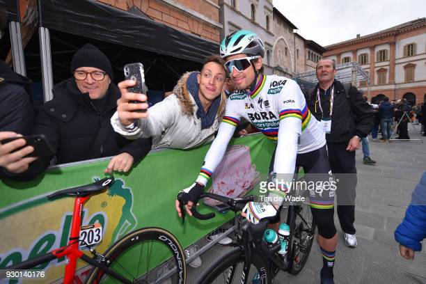 Start / Peter Sagan of Slovakia / Fans / Public / during the 53rd TirrenoAdriatico 2018 Stage 4 a 219km stage from Follonica to Sarnano Sassotetto...
