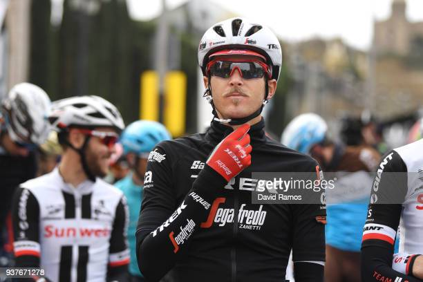 Start / Peter Stetina of The United States Team TrekSegafredo / during the 98th Volta Ciclista a Catalunya 2018 Stage 7 a 1548km stage from Barcelona...
