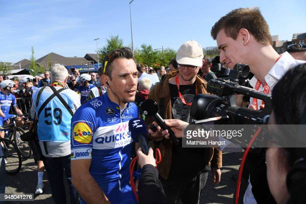 Start / Philippe Gilbert of Belgium and Team QuickStep Floors / during the 82nd La Fleche Wallonne 2018 a 1985km race from Seraing to Mur De Huy on...