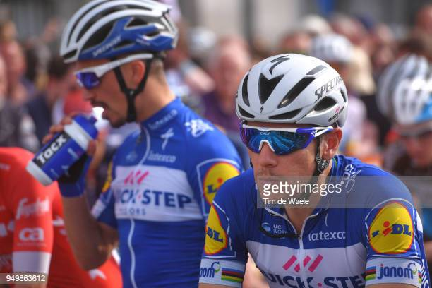Start / Philippe Gilbert of Belgium and Team QuickStep Floors / during the104th LiegeBastogneLiege 2018 a 2585km race from Liege to LiegeAns on April...