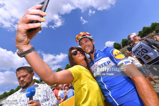 Start / Philippe Gilbert of Belgium and Team Quick-Step Floors / Fans / Public / during 105th Tour de France 2018, Stage 6 a 181km stage from Brest...