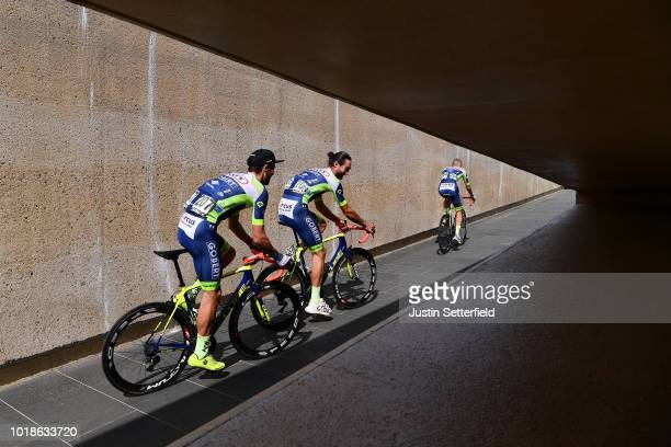 Start / Pieter Vanspeybrouck of Belgium and Team Wanty Groupe Gobert / Guillaume Van Keirsbulck of Belgium and Team Wanty Groupe Gobert / Xandro...