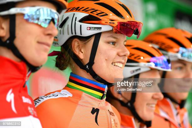 Start / Podium / Amalie Dideriksen of Denmark and Boels Dolmans Cycling Team / during the 5th OVO Energy Women's Tour 2018 Stage 5 a 122km stage from...