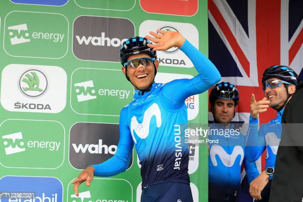 Start / Podium / Andrey Amador of Costa Rica and Movistar Team / during the 16th Tour of Britain 2019, Stage 5 a 174,1km stage from Birkenhead to...