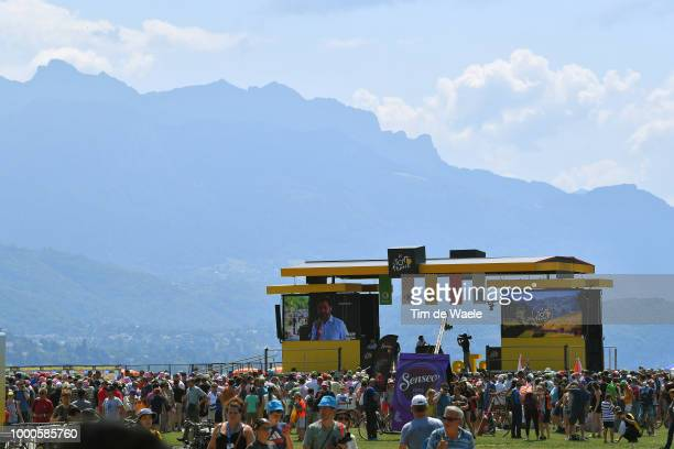 Start / Podium / Annecy / Fans / Public / Landscape / during the 105th Tour de France 2018 / Stage 10 a 158,5km stage from Annecy to Le Grand-Bornand...