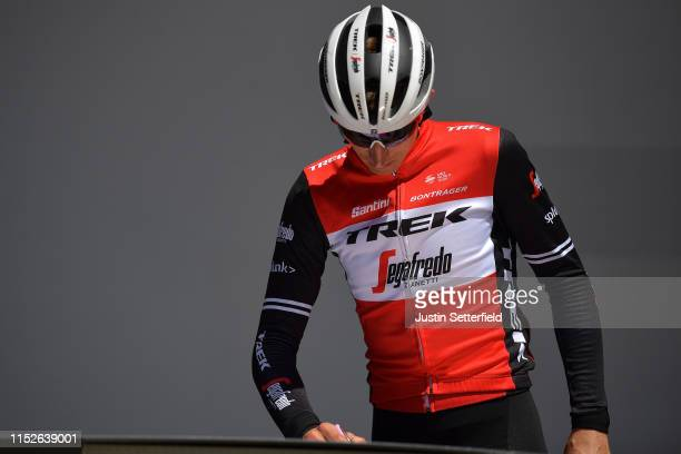 Start / Podium / Bauke Mollema of The Netherlands and Team Trek - Segafredo / Signature / during the 102nd Giro d'Italia 2019, Stage 18 a 222km stage...