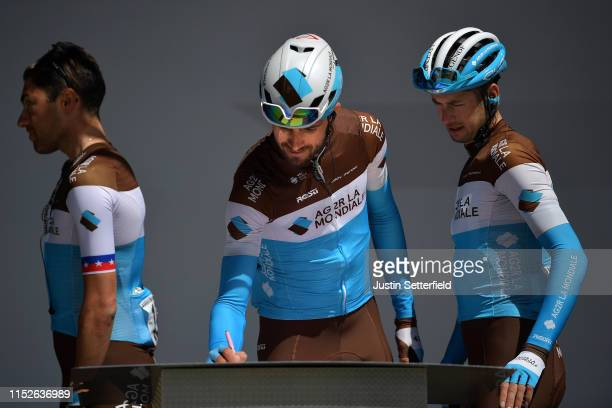 Start / Podium / Ben Gastauer of Luxembourg and Team AG2R La Mondiale / Signature / during the 102nd Giro d'Italia 2019 Stage 18 a 222km stage from...