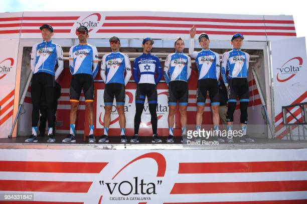 Start / Podium / Ben Hermans of Belgium / Ruben Plaza Molina of Spain / Zakkari Dempster of Australia / Jose Manuel Diaz of Spain / Nathan Earle of...