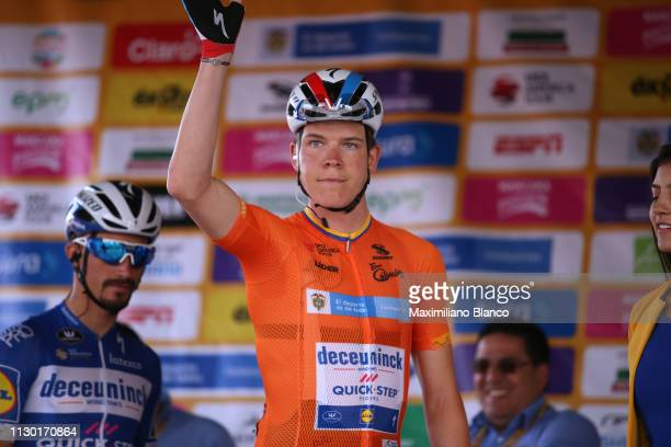 Start / Podium / Bob Jungels of Luxembourg and Deceuninck-Quickstep Team Orange Leader Jersey /during the 2nd Tour of Colombia 2019, Stage 5 a...