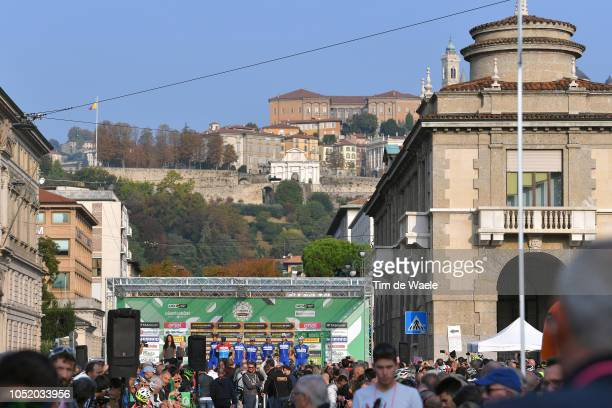 Start / Podium / Bob Jungels of Luxembourg and Team QuickStep Floors / Kasper Asgreen of Denmark and Team QuickStep Floors / Eros Capecchi of Italy...