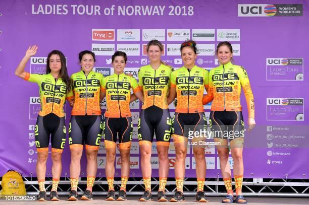 Start / Podium / Chloe Hosking of Australia / Anna Trevisi of Italy / Ane Santesteban of Spain / Roxane Knetemann of Netherlands / Soraya Paladin of...