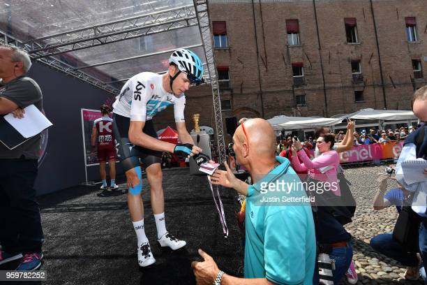 Start / Podium / Christopher Froome of Great Britain and Team Sky / during the 101st Tour of Italy 2018, Stage 13 a 180km stage from Ferrara to...