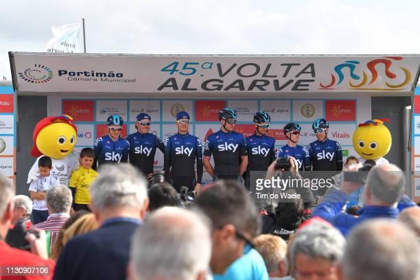 Start / Podium / David De La Cruz Melgarejo of Spain and Team Sky / Eddie Dunbar of Ireland and Team Sky / Tao Hart Geoghegan of United Kingdom and...