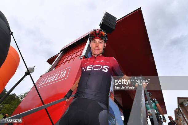 Start / Podium / David de la Cruz of Spain and Team Ineos / Pravia Village / during the 74th Tour of Spain 2019 Stage 16 a 1444km stage from Pravia...