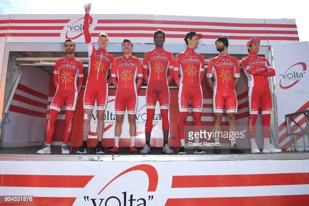 Start / Podium / Dorian Godon of France / Mathias Le Turnier of France / Daniel Teklehaimanot of Eritrea / Guillaume Bonnafond of France / Nacer...