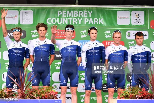 Start / Podium / Emils Liepins of Latvia / Thomas Baylis of Great Britain / Hayden McCormick of New Zealand / Christopher Latham of Great Britain /...