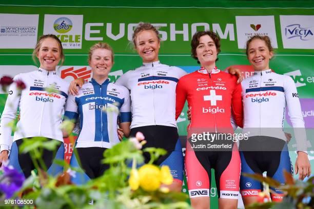Start / Podium / Emma AnnSophie Duyck of Belgium / Nicole Hanselmann of Switzerland / Clara Koppenburg of Germany / Lotta Pauliina Lepisto of Finland...