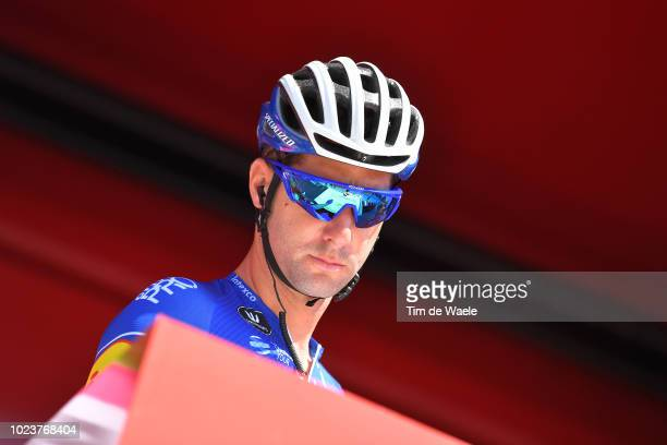 Start / Podium / Fabio Sabatini of Italy and Team QuickStep Floors / Signature / during the 73rd Tour of Spain 2018 Stage 2 a 1635km stage from...