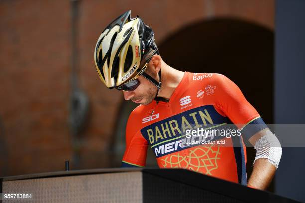Start / Podium / Giovanni Visconti of Italy and Team Bahrain-Merida / during the 101st Tour of Italy 2018, Stage 13 a 180km stage from Ferrara to...