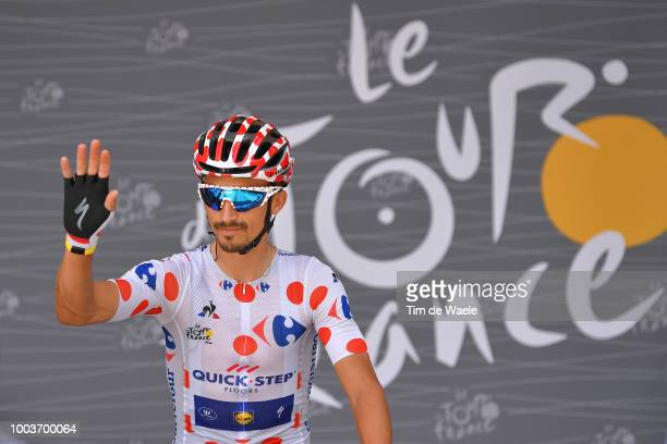 Start / Podium / Julian Alaphilippe of France and Team QuickStep Floors Polka Dot Mountain Jersey / during the 105th Tour de France 2018 Stage 15 a...
