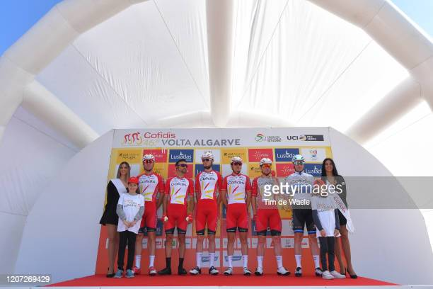Start / Podium / Kenneth Vanbilsen of Belgium and Team Cofidis / Fabio Sabatini of Italy and Team Cofidis / Marco Mathis of Germany and Team Cofidis...