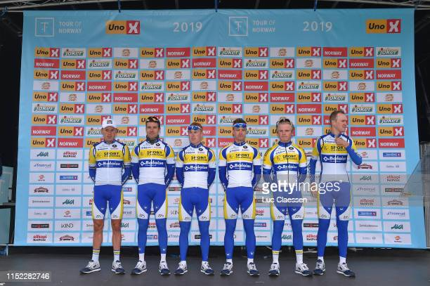 Start / Podium / Kenny De Ketele of Belgium and Team Sport VlaanderenBaloise / Kevin Deltombe of Belgium and Team Sport VlaanderenBaloise / Milan...