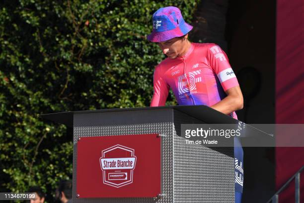 Start / Podium / Lachlan Morton of Australia and Team EF Education First / Signature / during the Eroica 13th Strade Bianche 2019 a 184km race from...