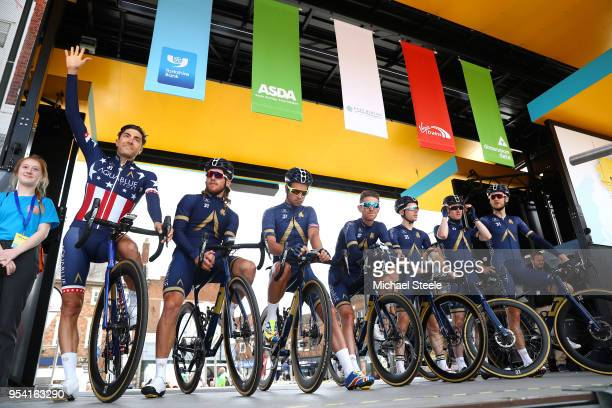 Start / Podium / Lawrence Warbasse of The United States / Adam Blythe of Great Britain / Shane Archbold of New Zealand / Mark Christian of Great...