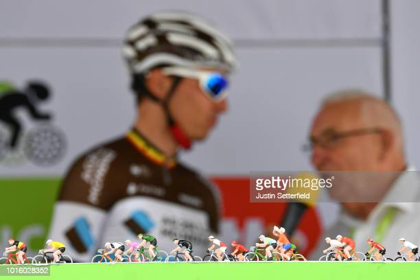 Start / Podium / Oliver Naesen of Belgium and Team AG2R La Mondiale / Detail view / Peloton / during the 14th BinckBank Tour 2018, Stage 1 a 177,3km...
