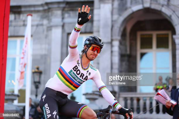 Start / Podium / Peter Sagan of Slovakia and Team BoraHansgrohe / during the 53rd Amstel Gold Race 2018 a 263km race from Maastricht to Berg en...