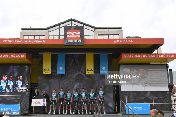 Start / Podium / Pierre Rolland of France and Team Vital Concept-B&B Hotels / Yoann Bagot of France and Team Vital Concept-B&B Hotels / Maxime Cam of...