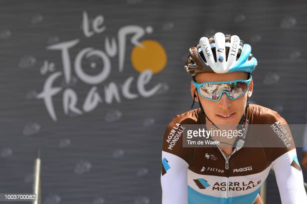 Start / Podium / Romain Bardet of France and Team AG2R La Mondiale / during the 105th Tour de France 2018, Stage 15 a 181,5km stage from Millau to...