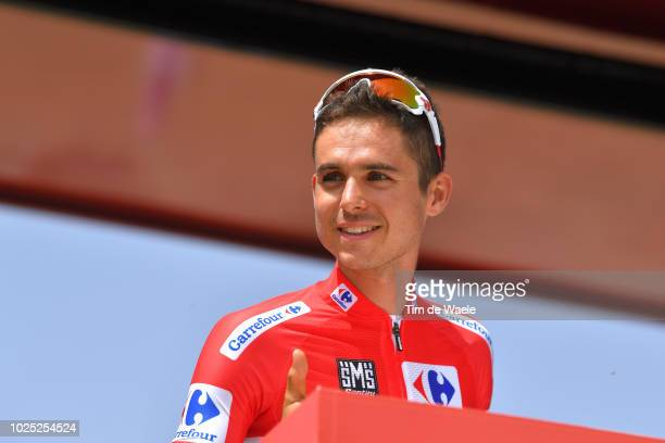 Start / Podium / Rudy Molard of France and Team Groupama FDJ Red Leader Jersey / during the 73rd Tour of Spain 2018, Stage 6 a 155,7km stage from...