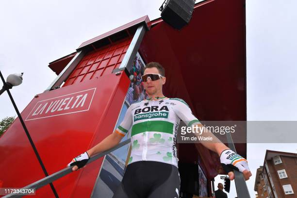 Start / Podium / Sam Bennett of Ireland and Team Bora-Hansgrohe / Pravia Village / during the 74th Tour of Spain 2019, Stage 16 a 144,4km stage from...