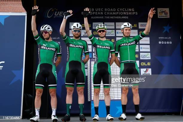 Start / Podium / Sam Bennett of Ireland / Robert Mccarthy of Jon Ireland / Matthew Teggart of Ireland / Rory Townsend of Ireland / during the 25th...