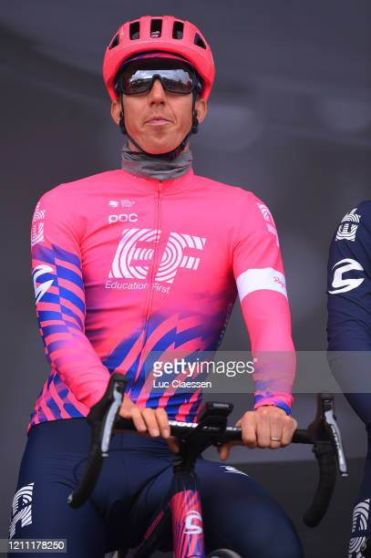 Start / Podium / Sep Vanmarcke of Belgium and Team Ef Education First / during the 78th Paris - Nice 2020, Stage 1 a 154km stage from Plaisir to...